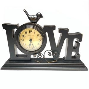 LOVE Mantle Tabletop Desk Vanity Bedside Clock